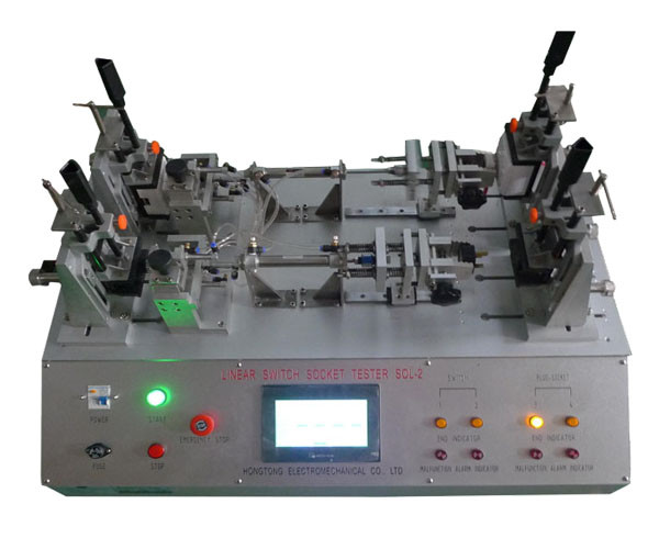 PLC Control Linear Switch Tester Pneumatic Plug Socket Test Equipment IEC61058.1 / IEC60884